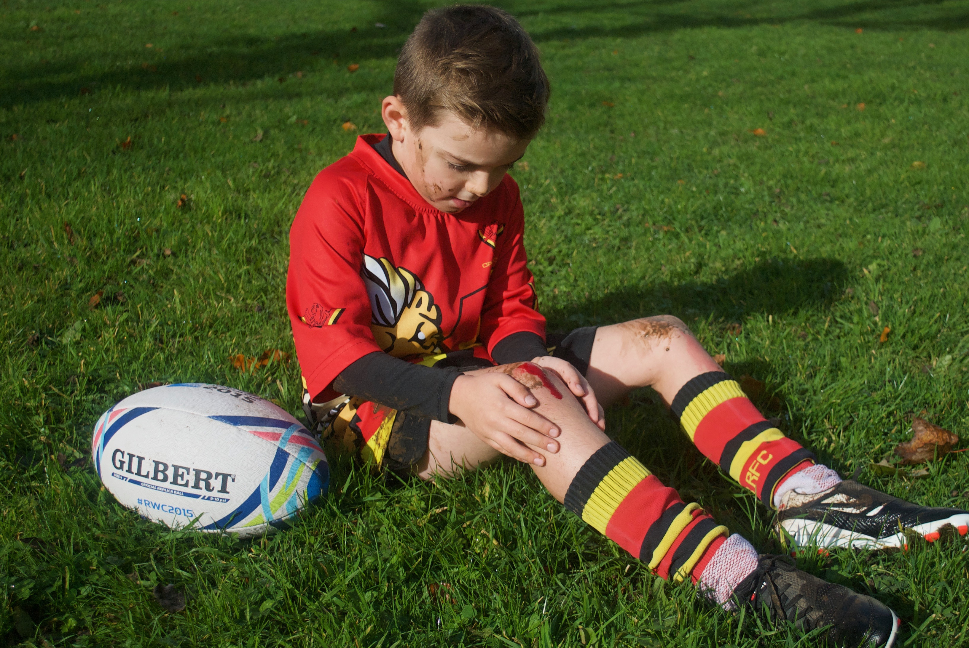 Child injured playing rugby