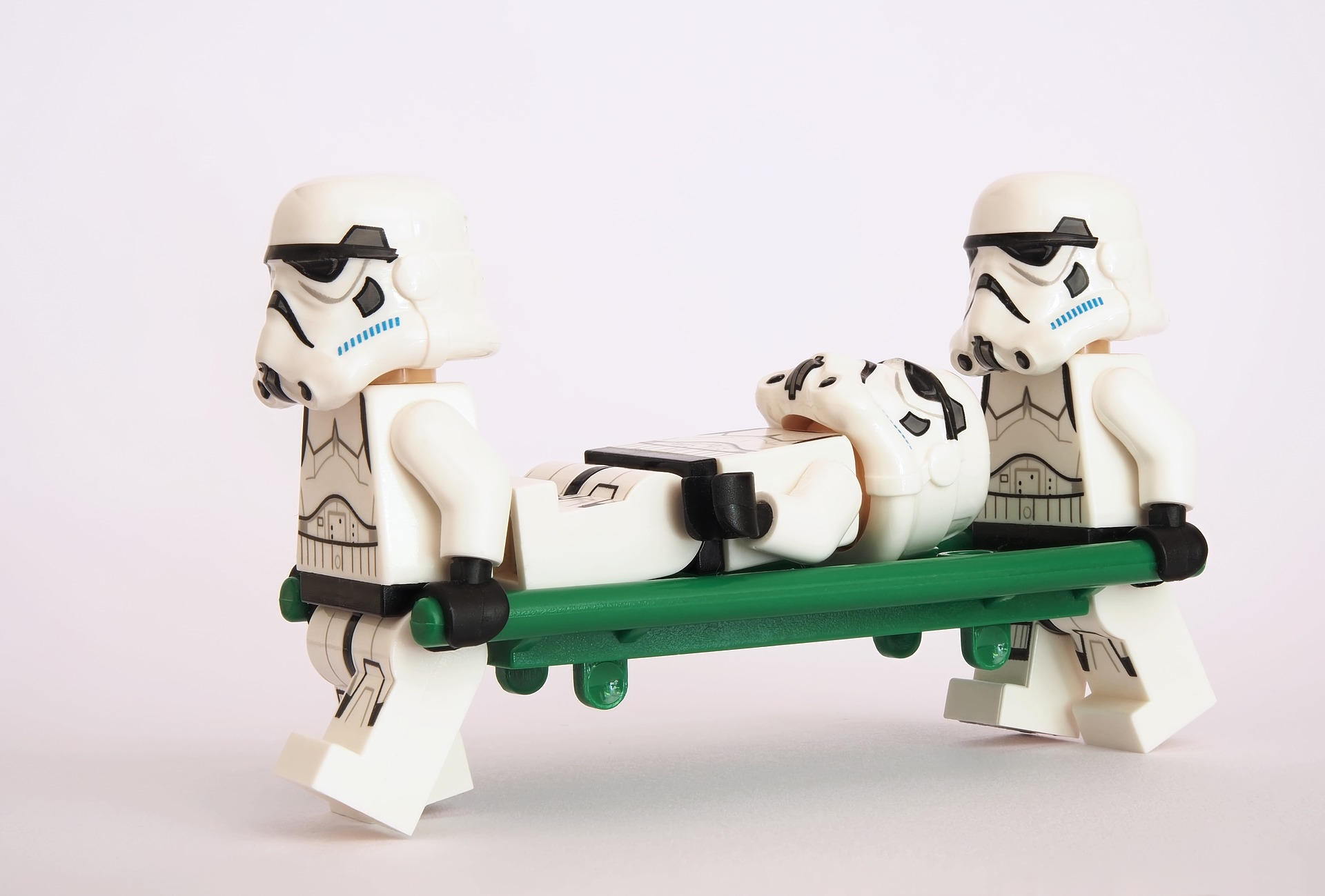 Lego Stormtroopers with a stretcher