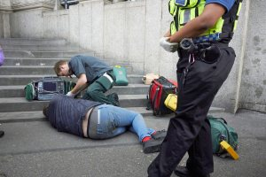 paramedic attending casualty