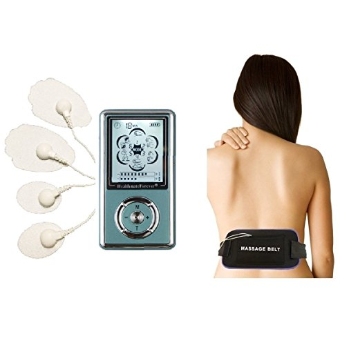 6-Modes-Hands-Free-Electronic-Pulse-Massages-Electro-Therapy-Devices-Multi-Belt-35mm-4in1-Wire-Connector-Muscle-Conditioning-for-Electrotherapy-Pain-Management-Light-Portable-the-Unit-Is-Powered-By-Re-0