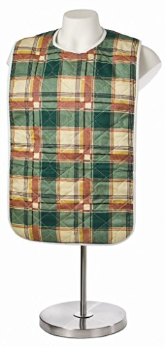 6-Pack-Adult-Bib-or-Clothing-Protector-Reusable-Washable-18×34-Green-Plaid-0