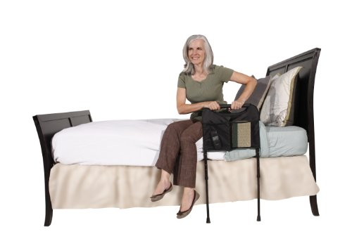 Able-Life-Bedside-Home-Sturdy-Bed-Rail-Cushioned-Support-Handle-Includes-Organizer-Pouch-Adjstable-Legs-That-Extend-to-the-Floor-0-1