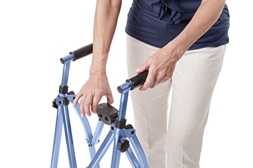 Able-Life-Space-Saver-Lightweight-Folding-Travel-Walker-with-6-wheels-Supprts-400-lbsBariatric-0-1