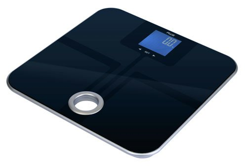 American-Weigh-Scales-MSL-180-Mercury-SL-Black-Glass-Top-Bathroom-Scale-with-ITO-Sensors-and-396-Pound-Capacity-0