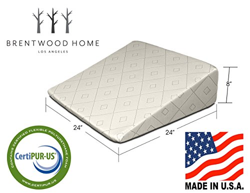 Brentwood-Home-Gel-Infused-Memory-Foam-Therapeutic-Foam-Bed-Wedge-Sleep-Pillow-100-Made-in-USA-CertiPUR-US-Washable-Organic-Cotton-Cover-0