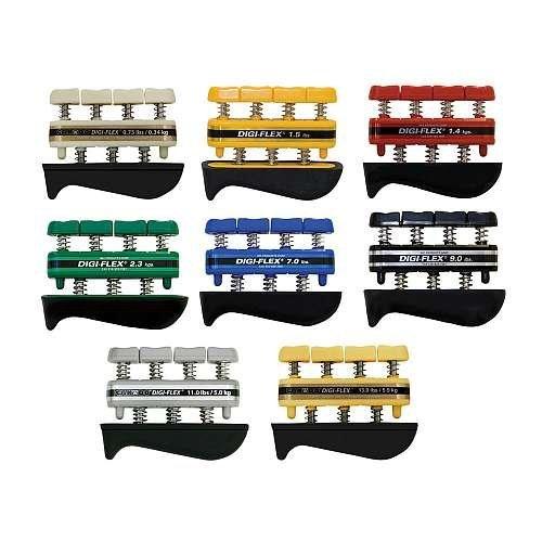CanDo-10-0758-Digi-Flex-Hand-Exerciser-No-Rack-Set-of-8-Tan-through-Gold-0