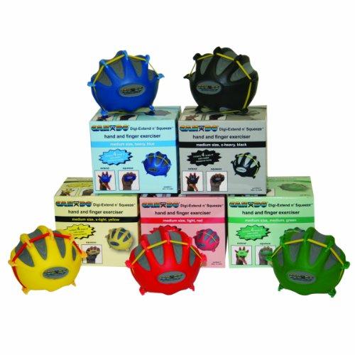 CanDo-10-2285-Digi-Extend-n-Squeeze-Hand-Exerciser-No-Stand-Medium-5-piece-Set-Yellow-through-Black-0