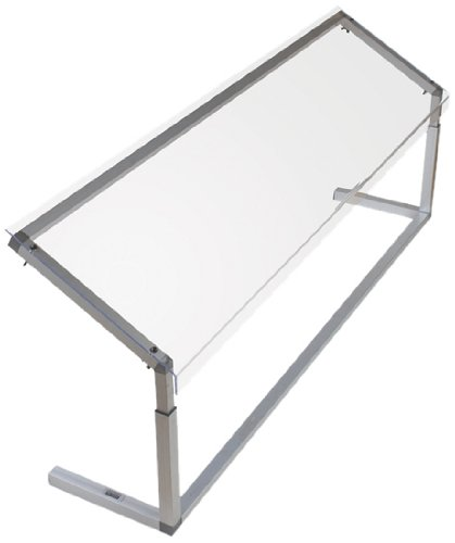 Carlisle-926007-Acrylic-Adjustable-Single-Sided-Sneeze-Guard-with-Aluminum-Frame-6025-Length-x-1244-Depth-Clear-0-0