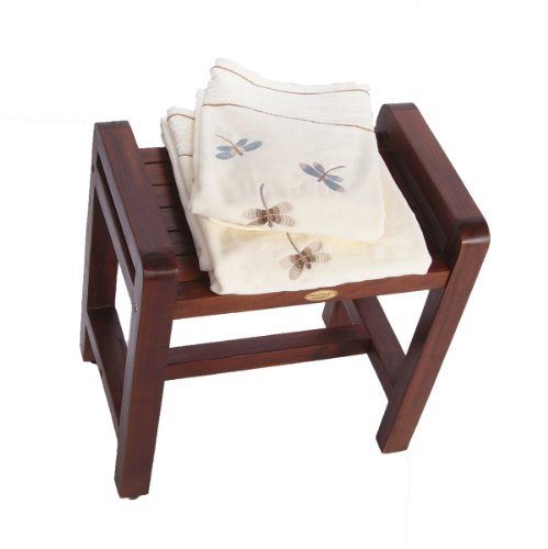 Classic-18-Teak-Shower-Bench-with-LIFTAIDE-ARMS-ADUSTABLE-HEIGHT-FOOT-PADS-Home-Health-Medical-Bench-Features-Sitting-Shaving-Display-Storage-0-1