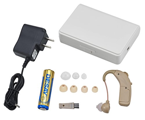 Clear-sound-personal-hearing-amplifier-Rechargeable-behind-the-ear-BTE-No-hearing-aid-battery-needed-use-AC-adapter-included-or-AA-battery-included-to-charge-the-amplifier-0-1