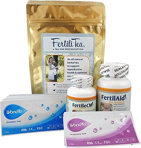 Conception-Bundle-for-Women-1-Month-Supply-of-Fertilaid-FertileCM-Fertilitea-Wondfo-Fertility-Tests-0