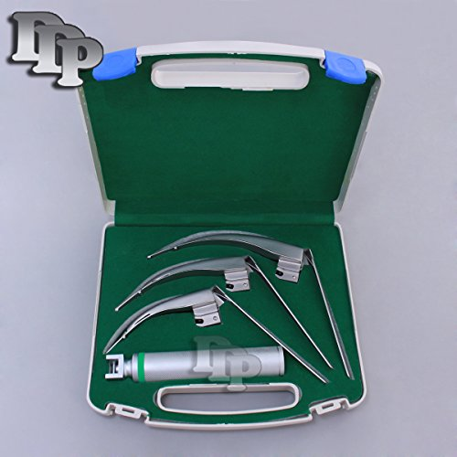 DDP-MCCOY-FLEXI-TIP-FIBEROPTIC-LED-LARYNGOSCOPE-SET-BLADE-2-3-4-MEDIUM-HANDLE-0