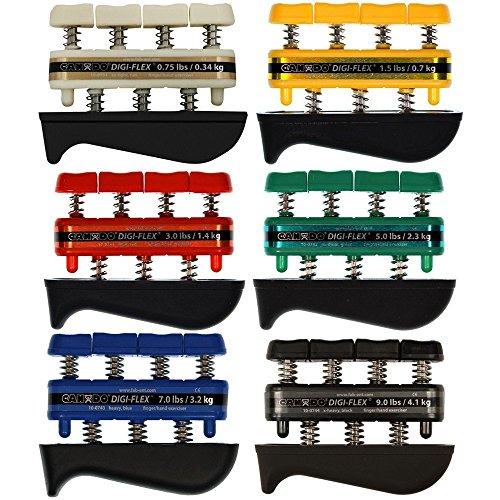 Digi-Flex-Hand-Exercisers-Combo-Set-of-6-075-lb-15-lb-3-lb-5-lb-7-lb-9-lb-TanYellowRedGreenBlueBlac-0