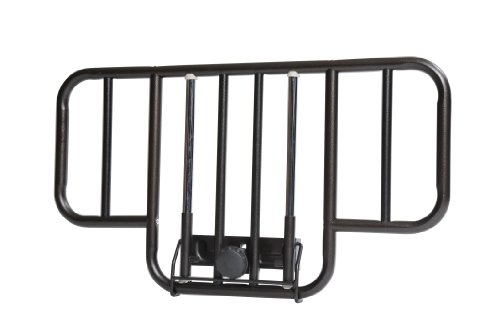 Drive-Medical-No-Gap-Deluxe-Half-Length-Side-Bed-Rails-with-Brown-Vein-Finish-Brown-Vein-Half-Length-0