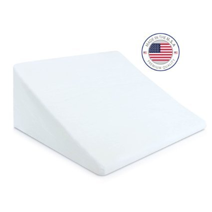 Eva-Medical-Wedge-Bed-Pillow-22-x-22-x-11-with-white-pillow-cover-MADE-IN-USA-0