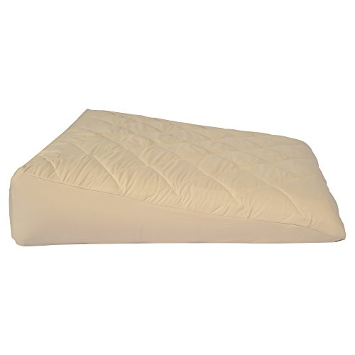 Inflatable-Bed-Wedge-Acid-Reflux-Wedge-Small-Size-wSoft-Peach-Skin-Custom-Fitted-Cover-32L30W8H-Weighs-22-Pounds-0