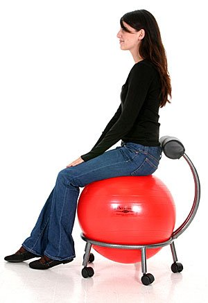 Isokinetics-Inc-Brand-Fitness-Ball-Chair-Metal-Frame-2-Frame-Finishes-Exclusive-60mm-25-Wheels-Multiple-Ball-Color-Choices-Adjustable-Base-and-Back-Height-0-0