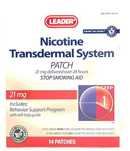 Leader-Nicotine-Transdermal-System-Patch-21-mg-14-Count-Per-Box-2-Boxes-0