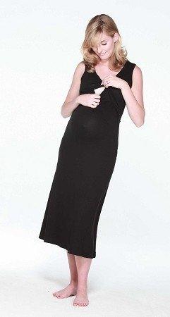 Maternity-Nursing-Pregnancy-Nightdress-Black-Maternity-Wear-Maternity-Clothes-0-1
