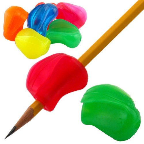 Pencil-Grip-Crossover-Grip-Ergonomic-Writing-Aid-For-Right-or-Left-Handed-Users-Assorted-Neon-Colors-Bag-of-100-TPG-180100-0-0