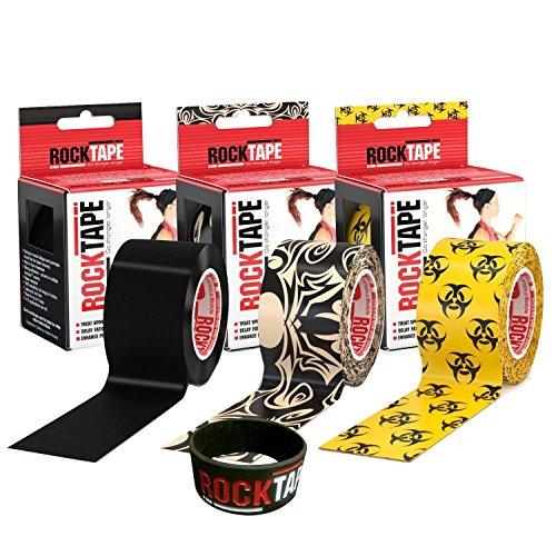 RockTape-Kinesiology-Tape-for-Athletes-3-Rolls-Combo-Pack-TattooBlackBio-hazard-0