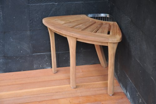 SUPER-SALE-19-Grade-A-Teak-Corner-Seat-Shower-Bench-Stool-with-Basket-WHAXCS-0-0