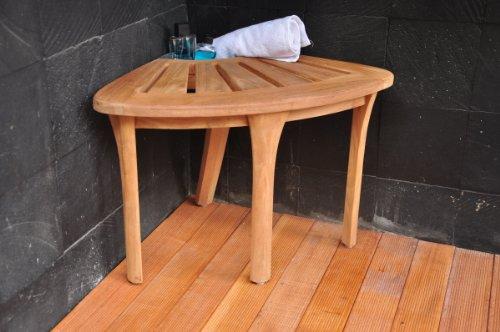 SUPER-SALE-19-Grade-A-Teak-Corner-Seat-Shower-Bench-Stool-with-Basket-WHAXCS-0