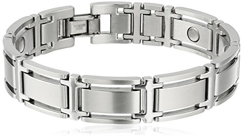 Sabona-Executive-Symmetry-Silver-Magnetic-Bracelet-0