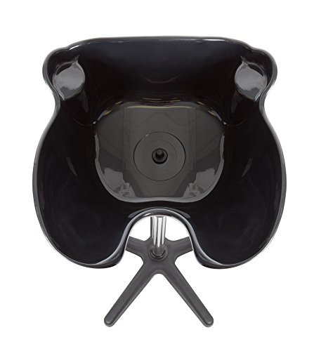 Saloniture-Portable-Salon-Deep-Basin-Shampoo-Sink-with-Drain-Black-Adjustable-Height-0-1