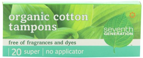 Seventh-Generation-Chlorine-Free-Organic-Cotton-Tampons-Super-non-applicator-20-count-packages-Pack-of-12-240-tampons-0
