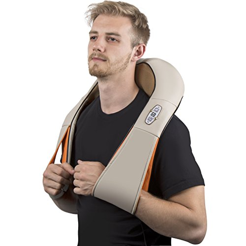 Shiatsu-Kneading-Neck-Shoulder-Body-Massager-with-Heat-Durable-Arm-Straps-Offers-Total-Relief-from-Back-Pains-Perfect-for-Home-Office-Cars-Free-Car-Adapter-Supreme-Quality-Portable-0