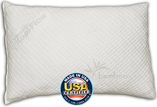 Snuggle-Pedic-Ultra-Luxury-Bamboo-Shredded-Memory-Foam-Pillow-Combination-Kool-Flow-Micro-Vented-Cover-Certified-USA-Manufacturer-90-Day-Refund-Free-Exchange-Policy-0