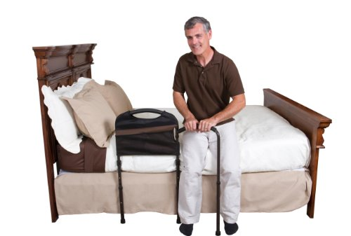 Stander-Mobility-Home-Bed-Rail-Cushioned-Support-Bed-Handle-Swing-Out-Mobility-Arm-Adjustable-Legs-Included-Organizer-Pouch-0-0