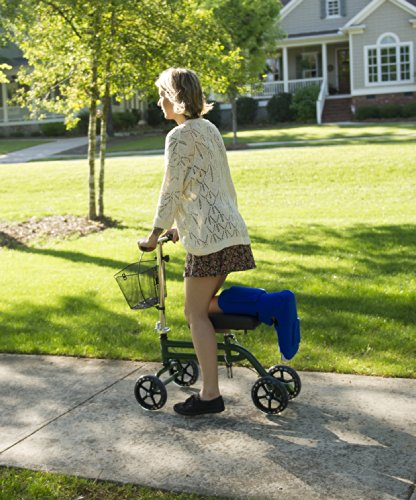 Steerable-Knee-Scooter-Knee-Walker-Turning-Leg-Walker-Crutches-Alternative-in-Green-0-0