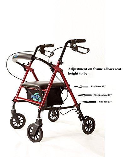 Super-Light-Rollator-Lightweight-Aluminum-Loop-Brake-Folding-Walker-Adult-Wheight-Adjustable-Seat-By-Legs-and-Arms-w-6-Wheels-By-Healthline-Trading-0-0