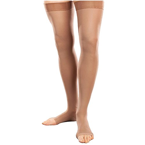 Therafirm-Ease-Opaque-Open-Toe-Short-Thigh-High-20-30-mmHg-Sand-Small-0