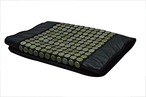 UTK-UTK-H10030L-PU-Leather-492-Pieces-Natural-Jade-Stones-Electric-Heating-Pad-24-W-x-70-L-inches-Black-0-1