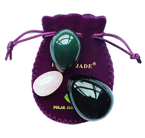 Yoni-Eggs-3-pcs-Set-with-3-Sizes-and-3-Gemstones-Drilled-with-Unwaxed-Thread-Instructions-Made-of-Nephrite-Jade-Rose-Quartz-and-Obsidian-for-Yoni-PC-Muscles-Massage-or-Display-Art-Polar-Jade-0-0