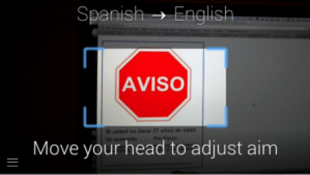 Translate – Look at a sign written in Spanish