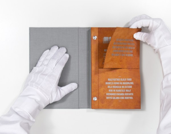 The Drinkable Book is an innovation aimed at education and functional use. Photo via Brian Gartside.