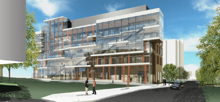 DMS_education_admin_building_rendering_courtyardview2014