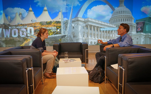Julia Karron interviews Dr. Robert Pearl at the Kaiser Permanente Center for Total Health in Washington, D.C.