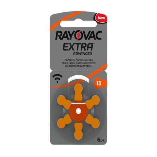 6 סוללות למכשיר שמיעה - RAYOVAC 312 3