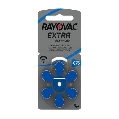 6 סוללות למכשיר שמיעה - RAYOVAC 675 3