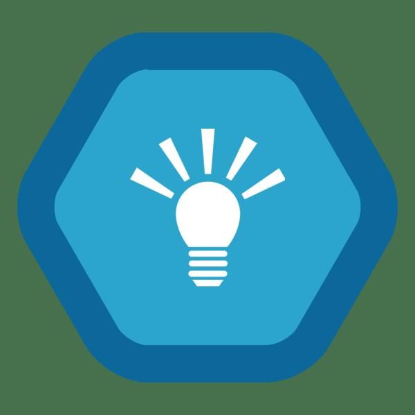 "Image du Badge ""Idea (2443)"" fourni par Andrew Laskey, from The Noun Project sous Creative Commons - Attribution (CC BY 3.0)"