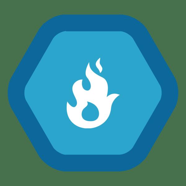 "Image du Badge ""Fire (4234)"" fourni par The Noun Project sous Creative Commons CC0 - No Rights Reserved"
