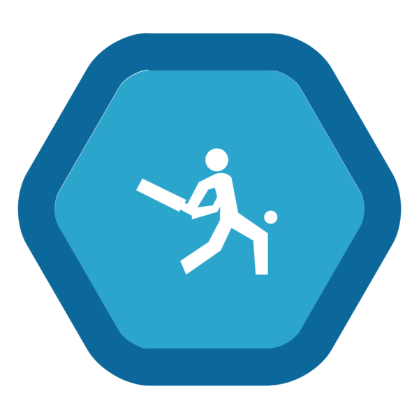 "Image du Badge ""Cricket (5360)"" fourni par The Noun Project sous Creative Commons CC0 - No Rights Reserved"