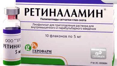 Photo of Ретиналамін: інструкція по застосуванню лиофилизата