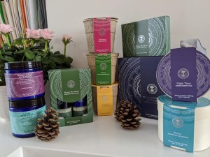 Display of Neal's Yard Remedies Christmas gift