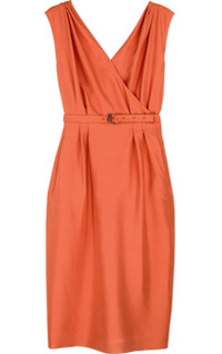BottegaVeneta_orange_crossover_dress_350px
